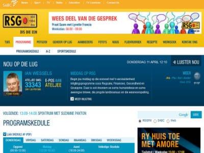 RSG Radio Screenshot